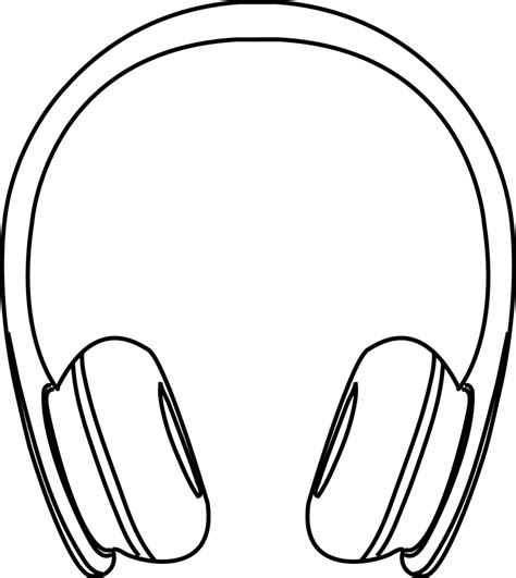 headphones clipart black and white free clip art images