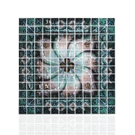 peel and stick glass mosaic tile backsplash aliexpress buy 10 quot x 10 quot peel and stick mosaic tile