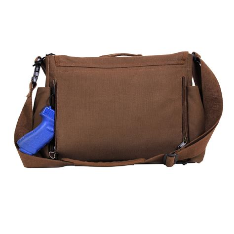 There Were Shoes Now Bags by Rothco Concealed Carry Canvas Molle Messenger Bag Ebay
