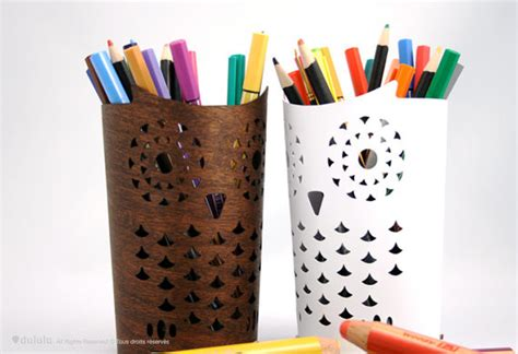 Owl Desk Accessories Owl Pencil Holder By Dululu Contemporary Desk Accessories By Etsy