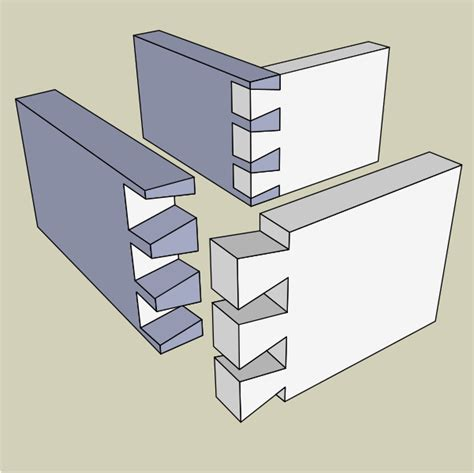 File Joinery Throughdovetail Svg Wikimedia Commons