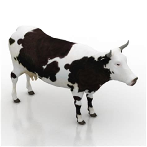 Interior Handrails Animals 3d Models Cow N050213 3d Model Gsm 3ds
