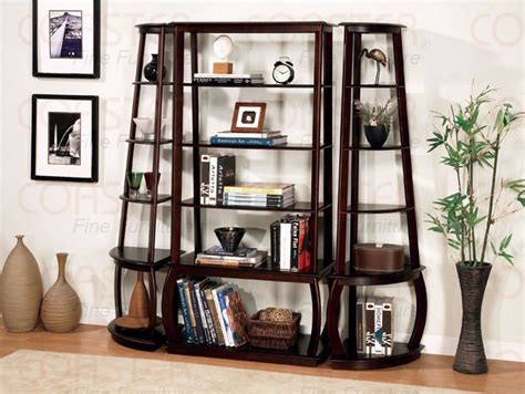 Coaster Corner Bookcase Corner Bookcase In Cappuccino Finish By Coaster 800240
