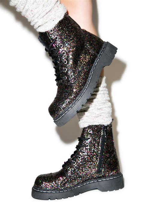 glitter boots t u k glitter 7 eye boot dolls kill