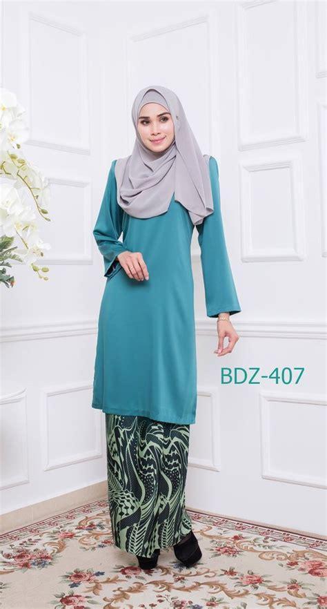 Baju Blouse Blus Zara Crape Des baju kurung d zara bdz407 b saeeda collections