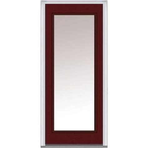 30 X 80 Exterior Door With Window Milliken Millwork 30 In X 80 In Clear Glass Lite Painted Fiberglass Smooth Prehung Front
