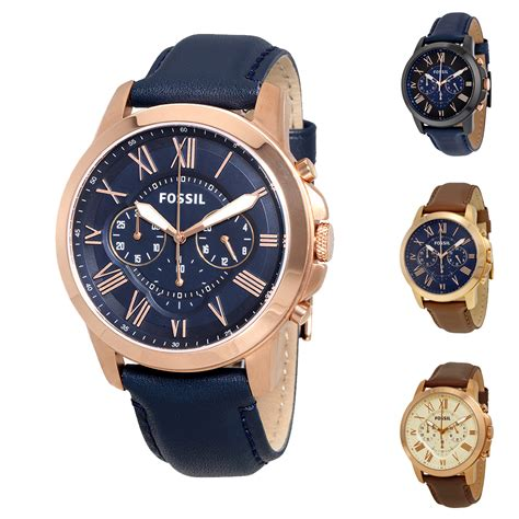 New Selempang Fossil 9210 2 Leather fossil grant 2 chronograph leather mens