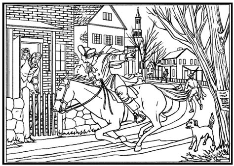 Paul Revere Coloring Page Coloring Home
