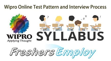 Wipro Pattern Questions | wipro online test pattern syllabus and interview process