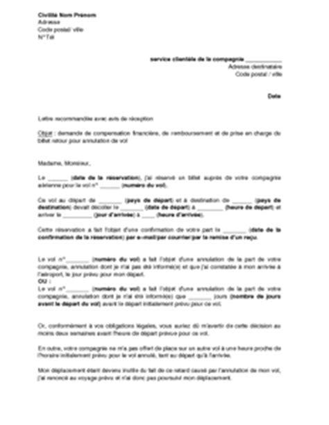 Lettre D Annulation De Demande De Visa compensation annulation vol pr 233 parer voyage