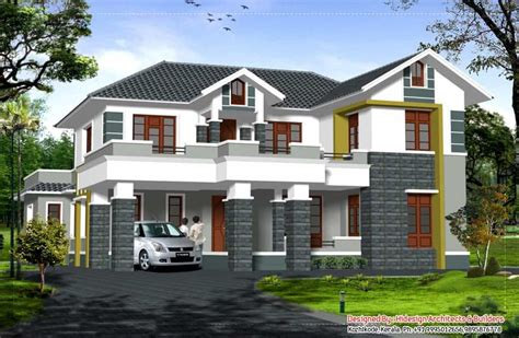 high roof house designs beautiful sloping roof kerala house at 2907 sq ft