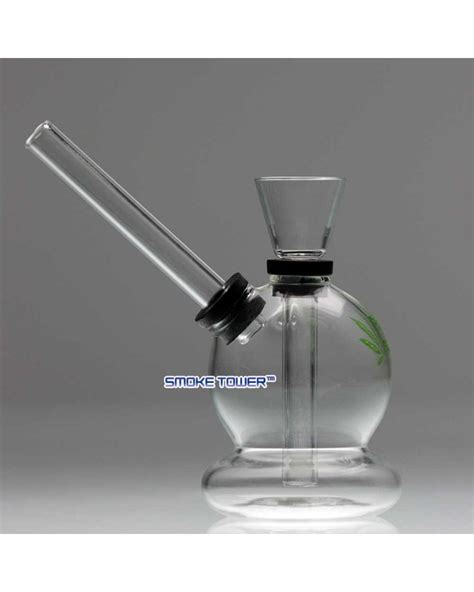 micro glass green leaf glass micro bong eco bongs by smoketower ca