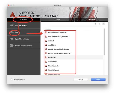 templates autocad mac cannot see template when opening new drawing autodesk