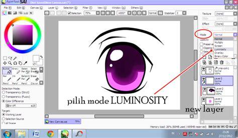 tutorial belajar paint tool sai belajar yuk mata anime paint tool sai