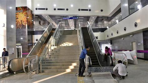 section 8 opening hours delhi metro s botanical garden kalkaji section complete