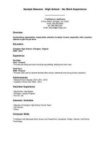 Work Resume Outline Job Resume Outline For A First Job