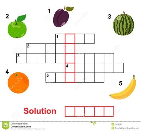 preguntas capciosas en ingles y español crucigrama de la fruta ilustraci 243 n del vector imagen de
