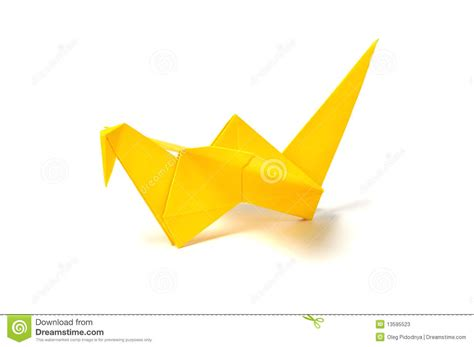 How To Make Paper Yellow - yellow origami crane stock photos image 13595523