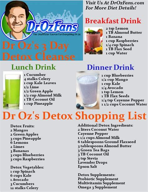 Cleanse And Detox Guidelines by Best 25 Dr Oz Detox Ideas On