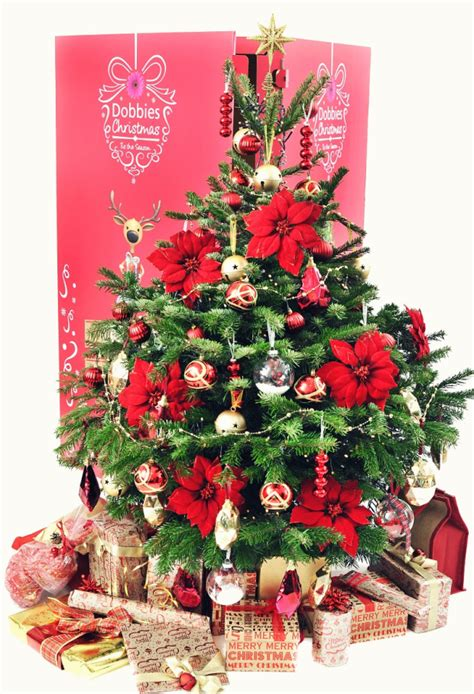 houston garden center christmas trees dobbies garden centre s service sends decorated tree and wrapped presents to your door metro news