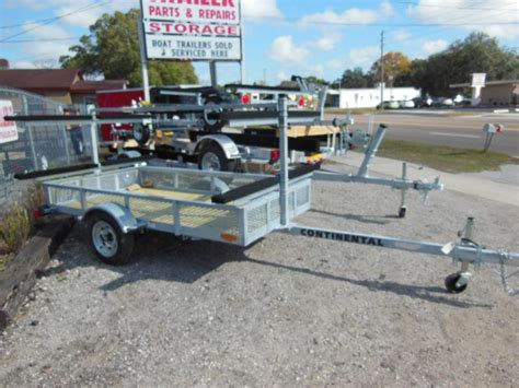 galvanized or aluminum boat trailers continental trailers kt4815 galvanized kayak watercraft