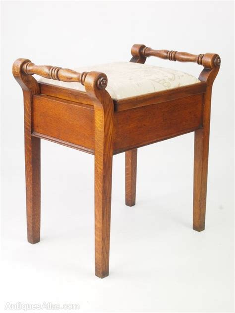 antique edwardian oak piano stool antiques atlas
