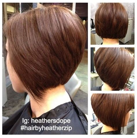 hair stacked straight front curly back stacked angle bob haircut and color core salon randolph