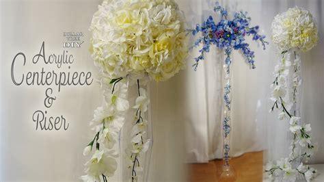 Dollar Tree Acrylic Centerpiece & Riser / Bridal Shower