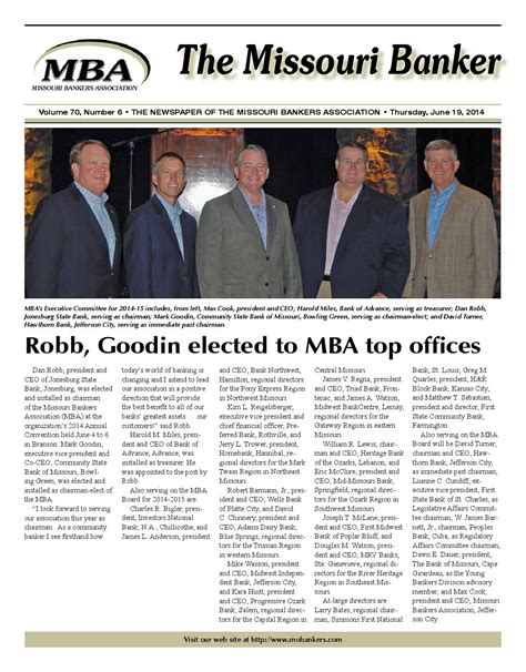 Missouri Mba by June192014web By Missouri Bankers Association Issuu