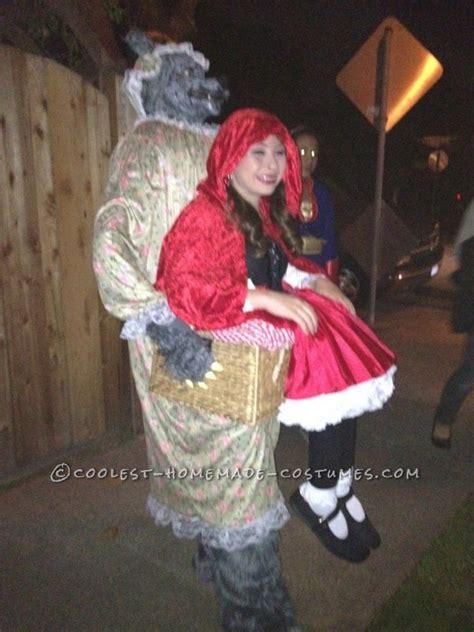 original wolf captures  red riding hood illusion costume