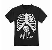 Children Skeleton Candy Rib Cage X Ray Halloween Funny