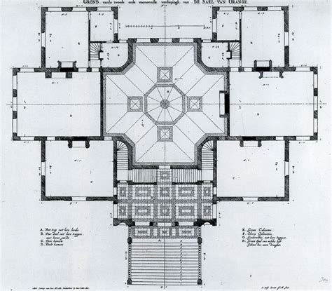View Home Plans Pieter Post Plan Of The Main Floor Of The Palace Huis