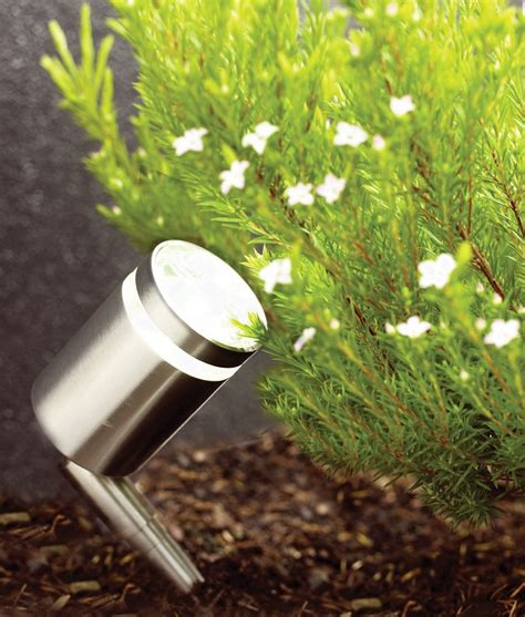 Hello Garden Light With Planter by Compact Stainless Steel Led Spike Light Small Enough To