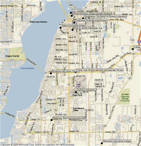 map of florida fort myers fort myers florida attractions map find sights things to