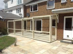 Patio Lean To by Lean To Enclosure Over A Patio After Installation Summit