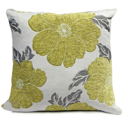 large sofa pillow covers chenille poppy cushions large small floral sofa bed