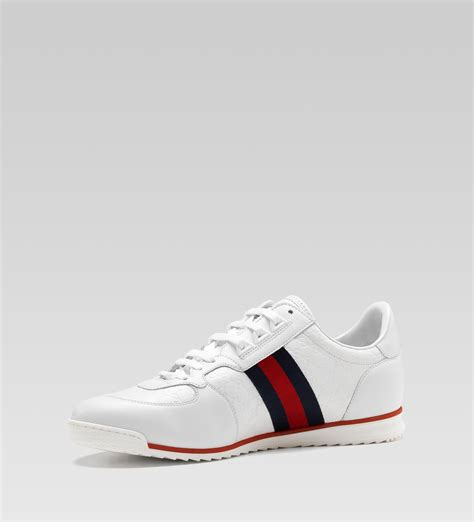 gucci sneakers for gucci lace up sneaker white micro guccissima leather