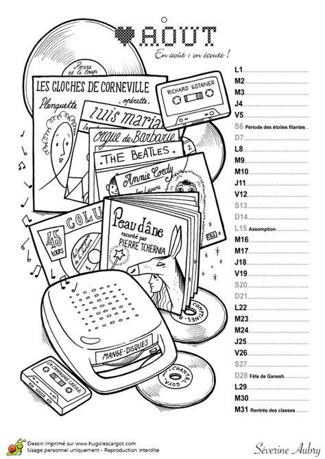 Calendrier 6 Mois A Imprimer Le Mois D Aout Est Le Deuxi 232 Me Mois De Vacances