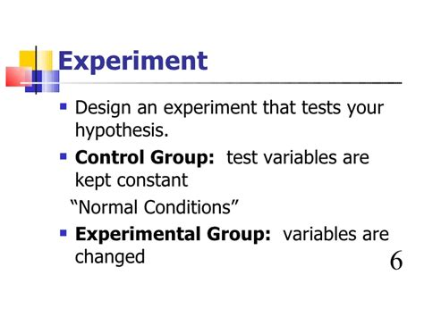 experimental design control group biology scientific method
