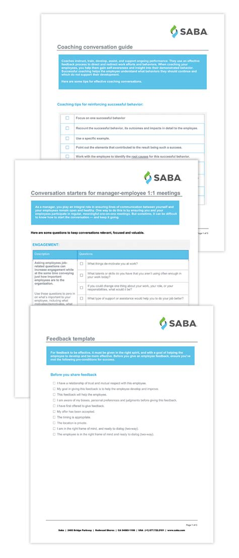 templates for employers employee feedback and coaching templates resources