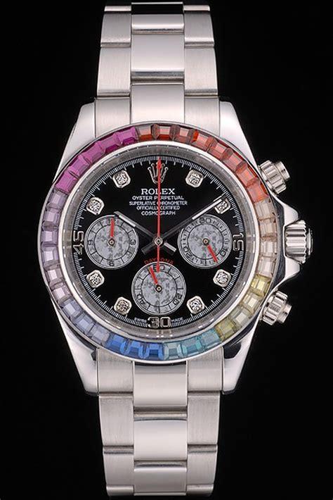 Rolex Daytona Silver Rainbow silver replica rolex daytona cosmograph rainbow black 80250 replica breitling watches