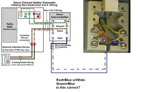 telephone wiring diagram rj11 telephone wiring