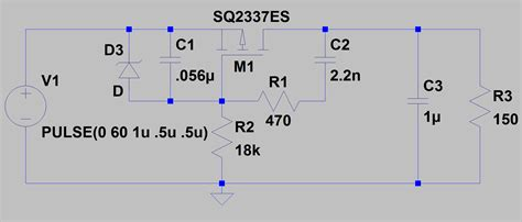 pmos p channel mosfet inrush current limiting