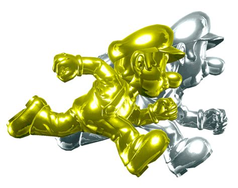 Bros Gold Flower B43547 gold mario and silver luigi by banjo2015 on deviantart