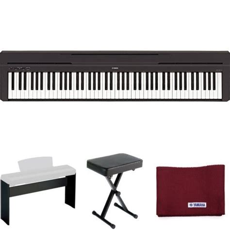 digital piano stand and bench yamaha p45 digital piano holiday home bundle with