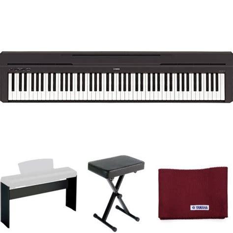 yamaha pkbb1 keyboard bench yamaha p45 digital piano holiday home bundle with