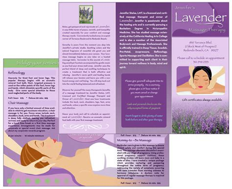 Brochure Zafira Pics Brochure Templates For Massage Therapy Counseling Brochure Templates