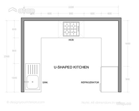 u shaped kitchen layout ideas interior design company 6 malaysian kitchen layout ideas for any home atap co