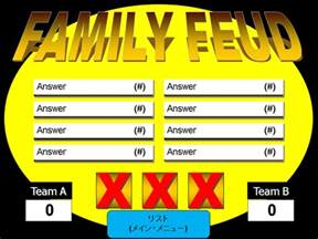 Family Fued Powerpoint Template by 6 Free Family Feud Powerpoint Templates For Teachers