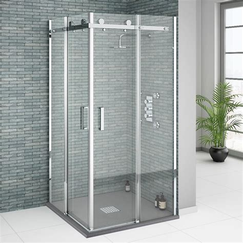 Frameless Corner Shower Doors Square Frameless Corner Shower Enclosure 900x900mm Buy At Plumbing